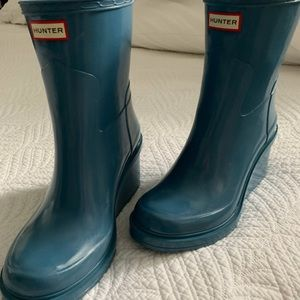 Hunter Wedge Rain Boots Size 6